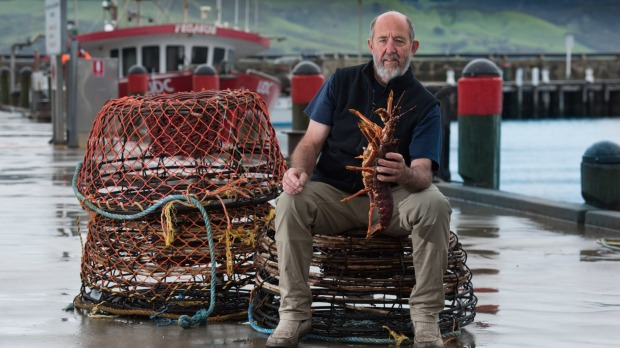 Russell 'Frosty' Frost. Apollo Bay Lobster Fisherman since 1970s. Copyright Richard Cornish. All Rights Reserved. Single USe only. Credit Richard Cornish. -2