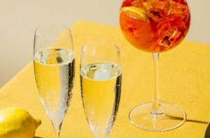Prosecco is a good option for Aperol spritzes.
