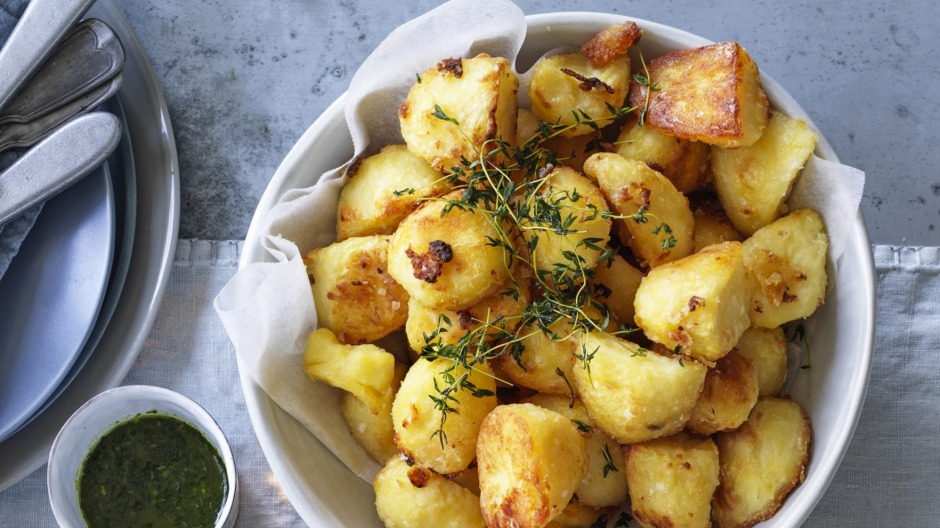 Andrew McConnell's duck fat potatoes.