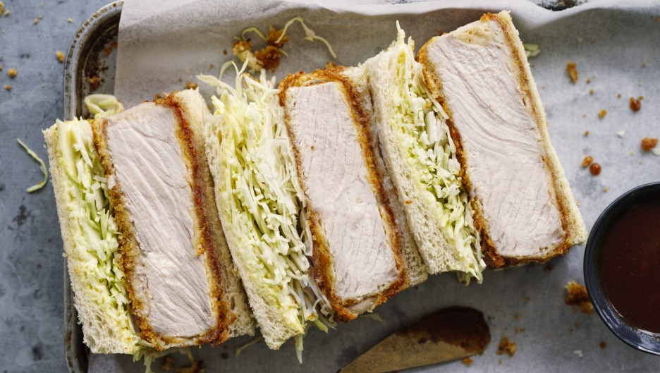 Katsu finger sandwiches are an on-trend option.