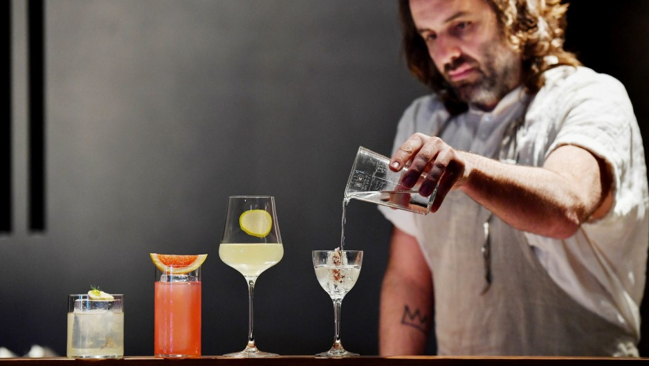 Luke Whearty with a selection of Byrdi's low and zero-alcohol drinks.