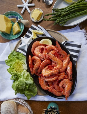 Liaw's Swedish-inspired prawn party platter.