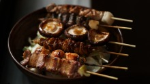 Go-to dish: the Chaco six – assorted skewers of chicken crackling, thigh and heart, shiitake, pork belly and lamb shoulder.