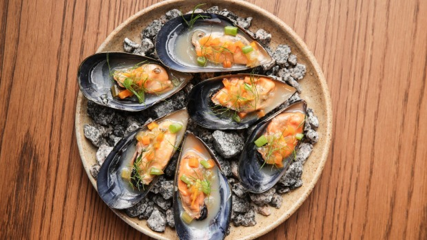 Pickled mussels.