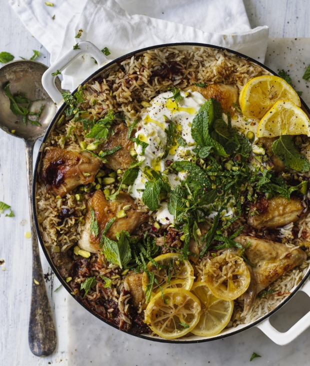 One-pot wonder: Persian chicken and rice.