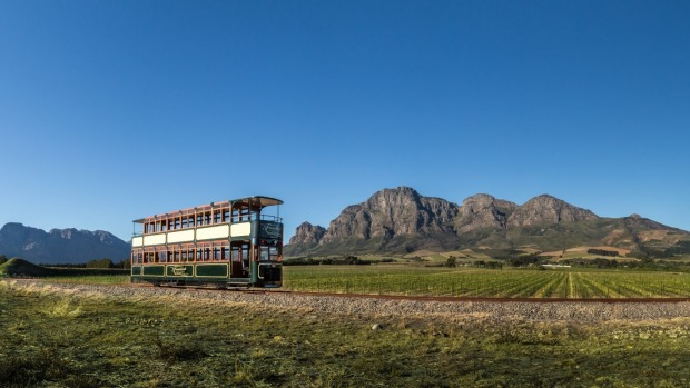 The Wine Tram that travels through South African Wine Country.