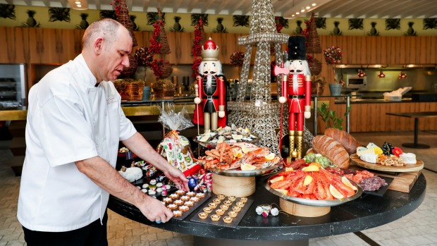 Chef Boris Cuzon is preparing for a bumper Christmas Day feast at Sydney's Sofitel Wentworth with 359 guests booked for ...