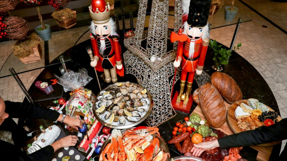 Sixty kilograms of crabs, 40kg of prawns and 180 dozen oysters will be devoured at the Sofitel Wentworth buffet on ...