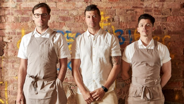 The Prince team (from left) head chef Dan Cooper, executive chef Dan Hawkins and sous chef Chris Andrews.