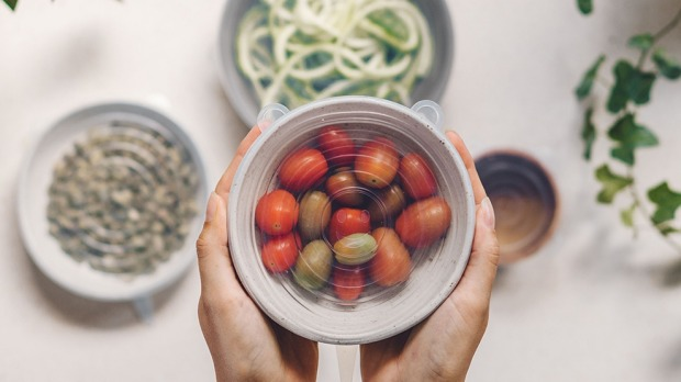 Good Food Seed and Sprout reusable stretch lids