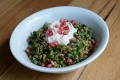 Hellenic Republic's Cypriot grain salad with yoghurt and pomegranate seeds.