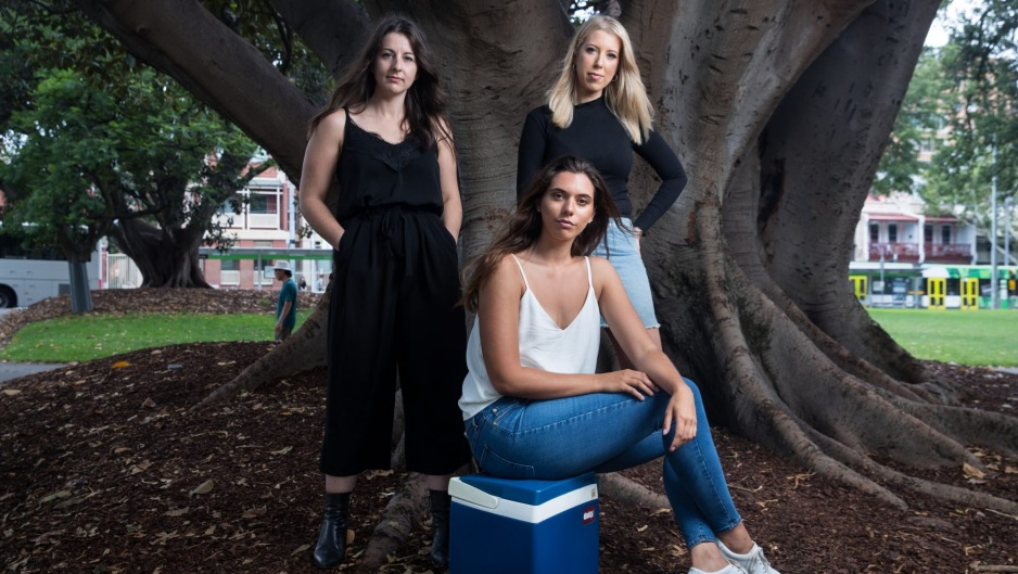 Elise Mason, Eleanor Baillieu and Erin Boutros from Empty Esky.