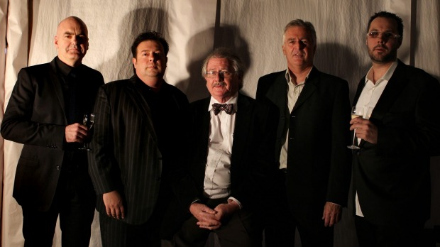 The three-hat recipients at The Sydney Morning Herald Good Food Guide Awards in 2011. From left, Mark Best, Peter ...