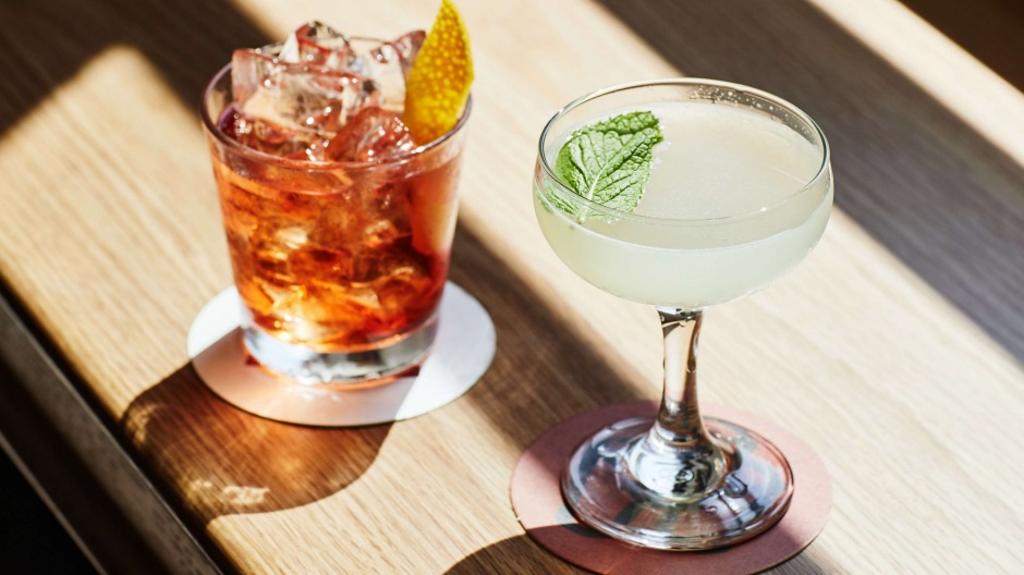 Classic cocktails are on the drinks list.
