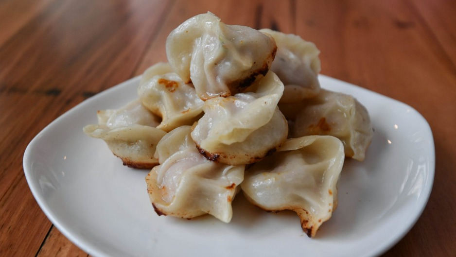 Pan-fried pork dumplings at Shanghai Street in Melbourne.