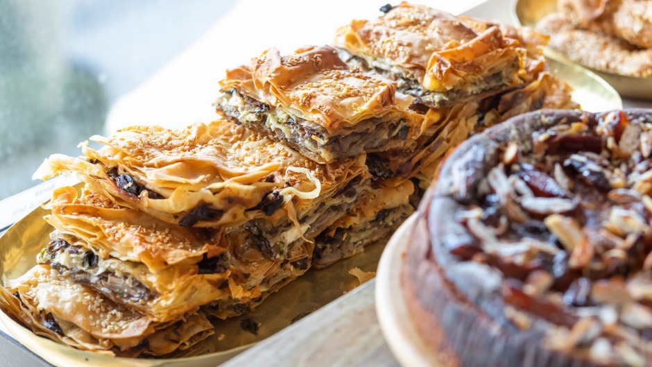 Mushroom and walnut boreks are available at the pop-up.