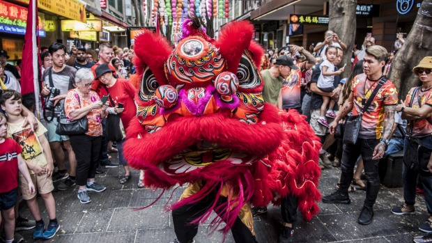Atmosphere of Chinese New Year celebrations in Chinatown. 25th January 2020 Photo: Steven Siewert .