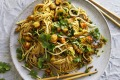 Karen Martini's stir-fried ramen noodles with curried prawn