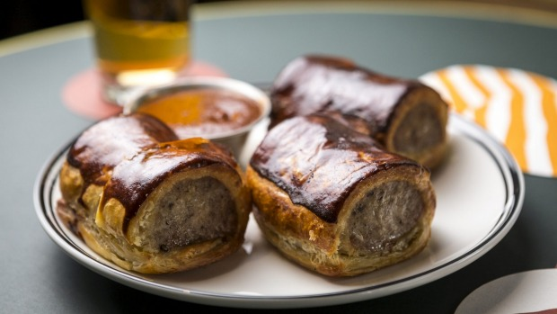 Sausage rolls top the snack list.
