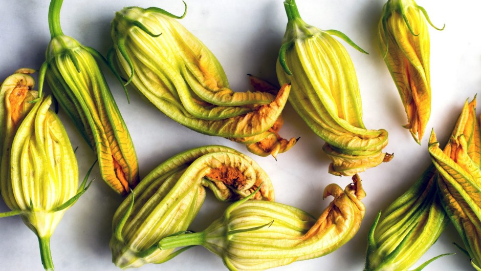 When you get your hands on something as precious as zucchini flowers, don't create too many distractions.