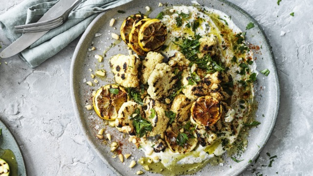 The lemony whipped feta works on its own as a dip, too.
