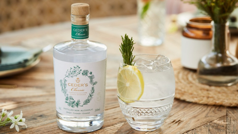 Ceder's, a South African non-alcoholic alternative to gin ($45).
