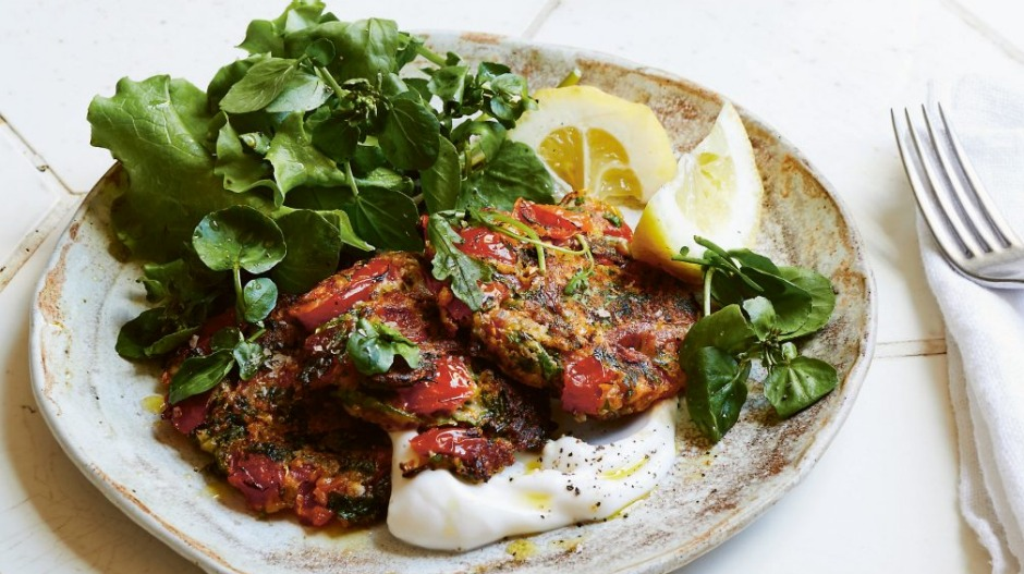 These simple tomato fritters will take you back to the Greek Islands.