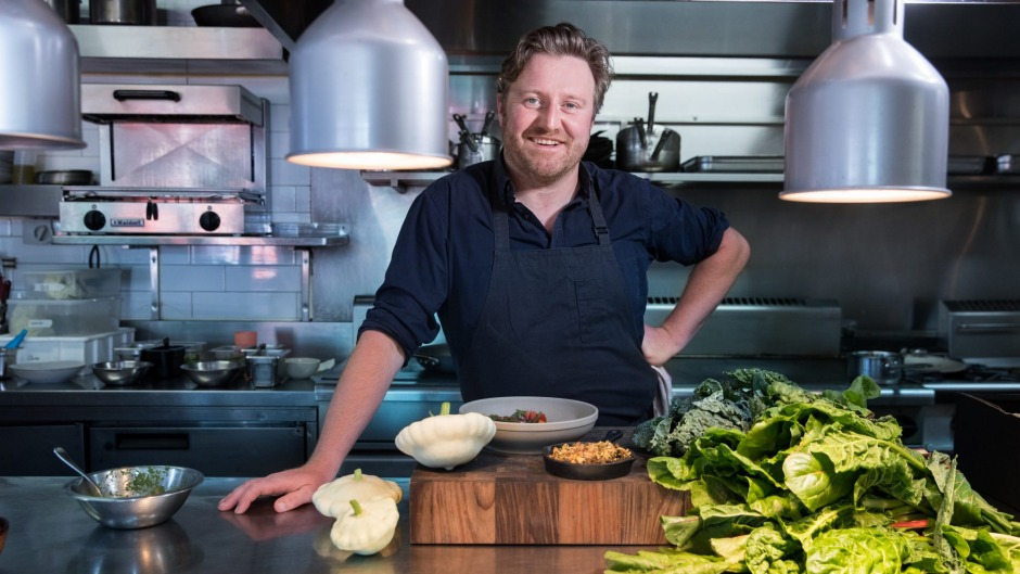 The Age, News. Chef Matt Wilkinson for news story Sat about 'meat on the side at Crofter restaurant . Pic Simon Schluter ...