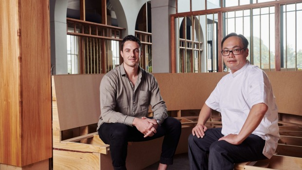 General manager Brad Hammond (left) and chef Ken Yuen are fronting the new Albert Park Hotel.