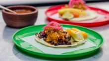 Lunchtime tacos are hidden in the alley behind Cala restaurant.