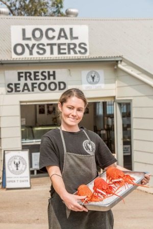 Kirsty-Lee McCoy from Narooma Bridge Seafoods, Narooma.
