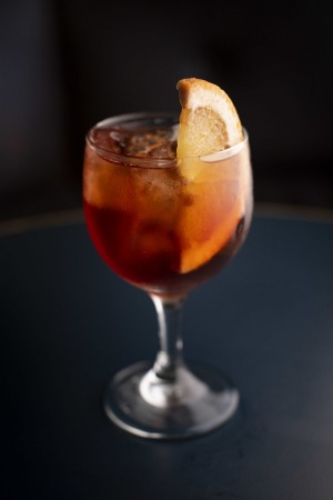The house spritz with vermouth and pet-nat.