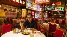 Table for one: Good Luck Hot Pot manager Jack Chen is pleading for people to keep supporting Chinese restaurants.