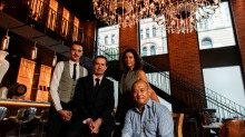 From left: Maitre d' David Searl, sommelier John Clancy, events manager Kim Daniela Antunovic and ownerDah Lee.