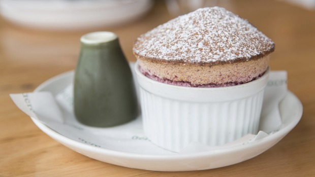 Souffle is a signature (cherry flavour pictured).