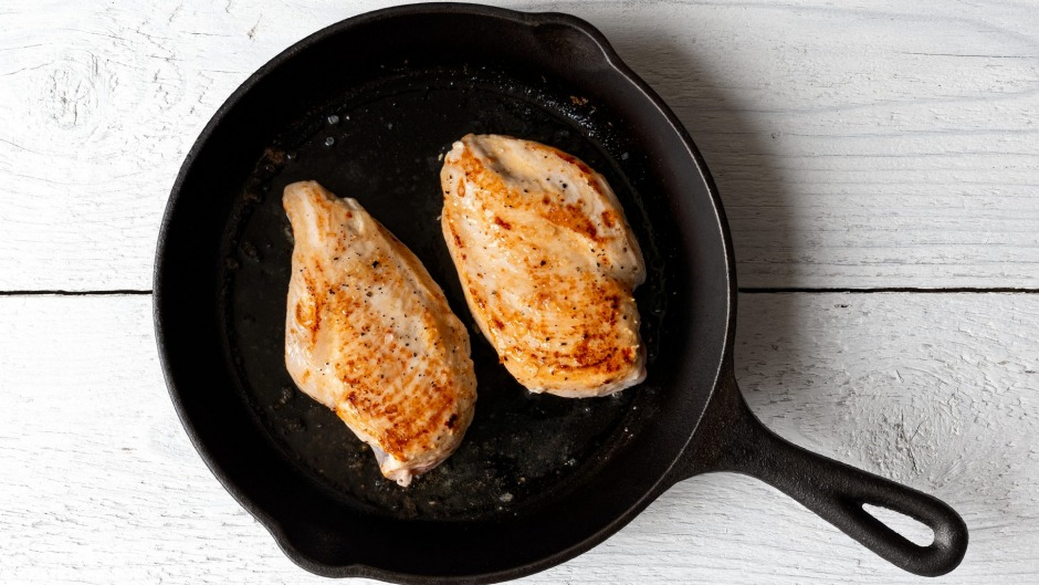 The more you cook with your cast-iron skillet, the more seasoned it becomes.
