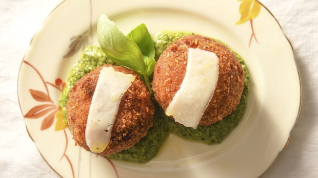 Pumpkin and sage arancini.