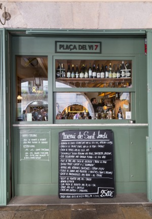 Wine bar Placa del Vi 7 in Girona.