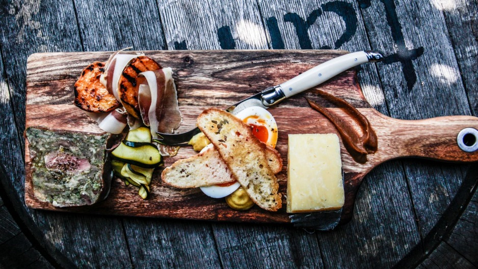 Northern Ground's antipasto platter features local ingredients including Forge Creek free-range eggs.