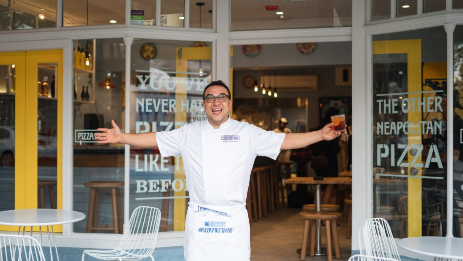 Luigi Esposito fromPizza Fritta 180, Surry Hills, has been eating Neopolitan-style fried pizza since childhood.