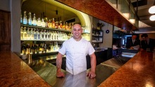 Chef Shane Delia in his newest venue, Maha Bar in Collingwood, which will temporarily close.