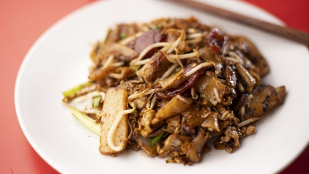 The wok-scorchy, lup cheong-loaded char kway teow.