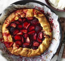 Andrew McConnell's blood plum crostata.