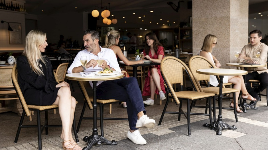 The Cosmopolitan's new owners have maximised the cafe's people-watching potential.