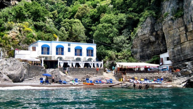 Da Adolfo restaurant in Positano can only be accessed by boat.