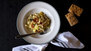 Pasta courses are made fresh daily, featuring Hafner's own produce.