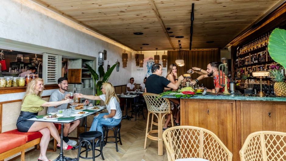 The space has been designed to mimic the look of a bar in Havana during that time.