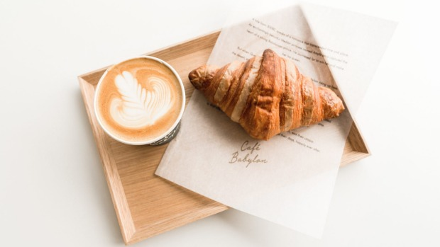 The cafe is coffee-focussed with croissants and pastries.