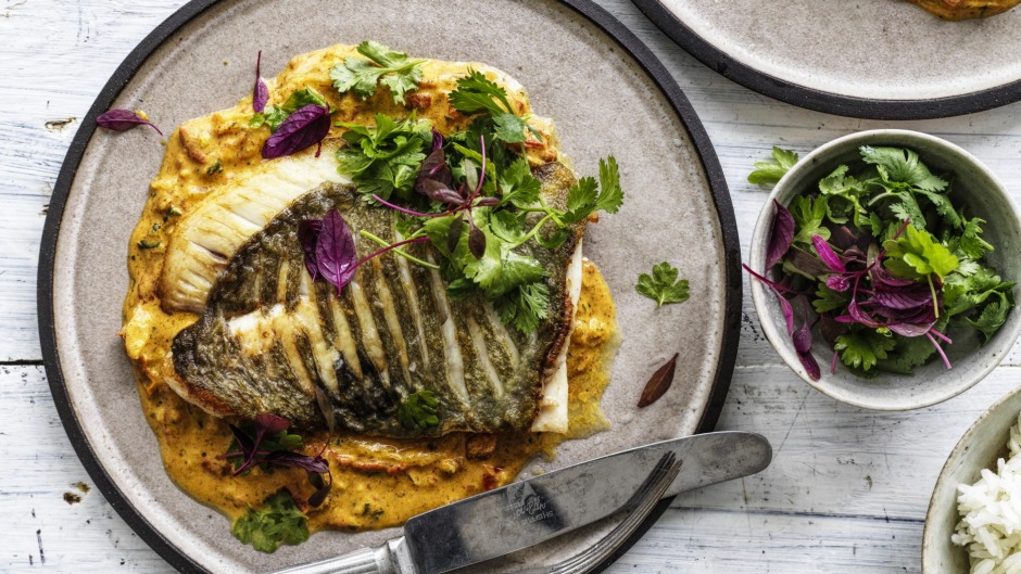 Grilled John Dory with curry sauce