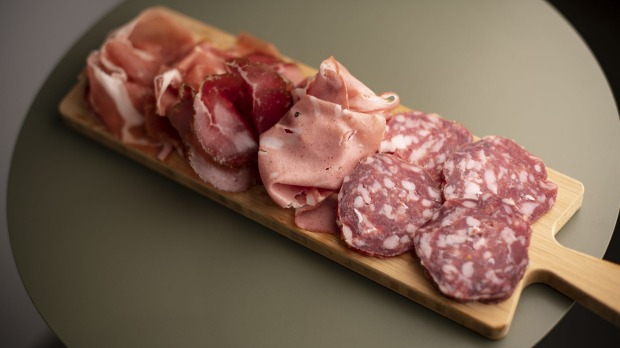 Keeping it simple with a salumi board.